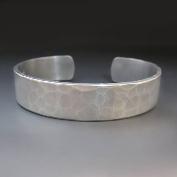 1/2 inch wide Silver Hammered Cuff Bracelet / Gifts for Teens / Graduation Gifts / Layering Bracelet / Gift Ideas for Mom / Graduation Gifts