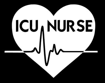 icu nurse vinyl decal intensive care unit nurse nurse decal - What Makes A Good Icu Nurse