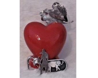 Vintage Estate Lot of 3 Sterling Silver Brooches Pins and 1 Pendant - Heart, Elephant and Leaves and Aztec God - All signed