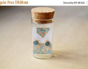 SALE Blue Crystal Druzy  Specimen Earrings
