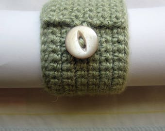 Crochet Pattern for Button Napkin Ring