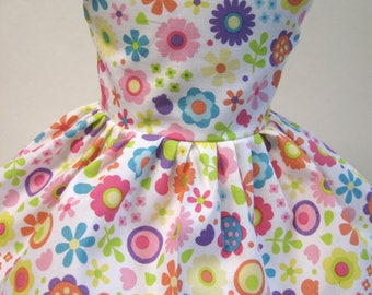 Doodlebug Flowers, Sleeveless Dress for your 18 Inch Doll B