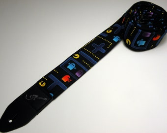 Video game-themed handmade double padded guitar strap - This is NOT a licensed product