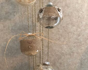Handmade Burlap Christmas Ornaments
