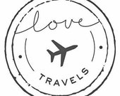 Love is in the Air Leather Luggage Tags