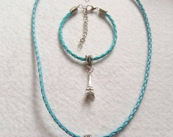 10 Tower Eiffel Party Favors. Bracelets and Necklaces.