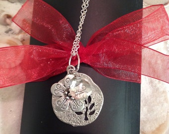 Sterling Silver Flower Quartz Charm Necklace