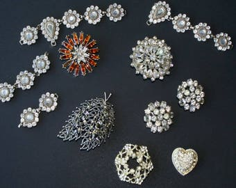 Rhinestone Jewelry Lot Repair Craft Wear