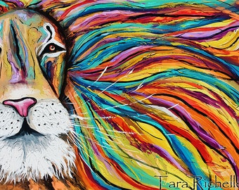 Iron Lion Zion, abstract lion, colorful, rasta, jamaica, modern,poster, home decor, bob marley, reggae, african