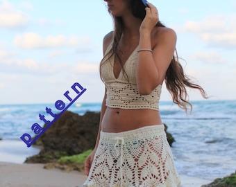 Skirt crochet pattern PDF Summer skirt tutorial Women's clothing patterns Lace skirt Crochet skirt Pattern
