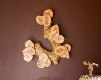 Branch wall sculpture - Wall art - Modern rustic - Wood wall sculpture - Tree sculpture - Rustic decor