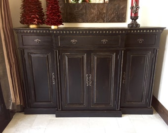 Barrymore Cottage Console Buffet Cabinet - Classic Handmade Painted Cabinet by Arcadian Cottage