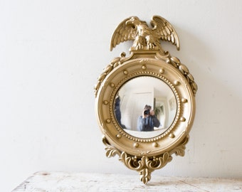 Eagle Gold Mirror Wall Hanging - Vintage Gold Frame Mirror Vintage Gold Mirror Ornamental