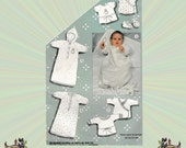 Infants Layette, Baby Layette Pattern, Shirt, Gowns & Bunting, infant Size 1-3-6-12-18 Months, Simplicity Sewing Pattern 6259