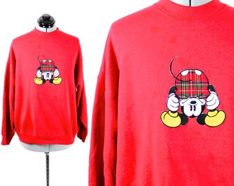 CLEARANCE Vintage Red Mickey Mouse Sweatshirt Mickey and Co. Size Womens Medium