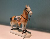 Ceramc horse with a sweet little face made in japan