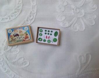 Tiny tea set for your dollhouse doll, dollhouse miniature