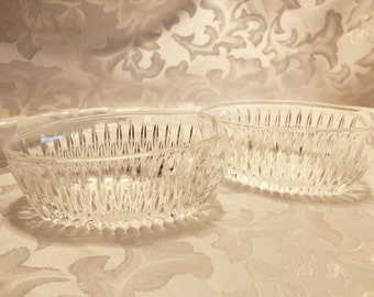 Vintage Pressed Glass Spoon And Fork Holders