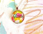 SALE* Blessed, Hand Painted, Silver Necklace