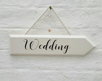 Wedding Arrow Sign Wooden Arrow Sign Wooden Wedding Signs Rustic Wedding Sign Directional Sign Wedding Signage Outdoor Wedding Decor Prop