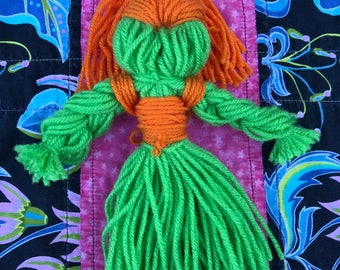 Old fashion yarn doll