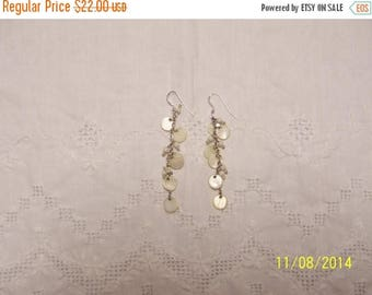 EVERYTHING 20% OFF, Vintage Dangle Mop earrings. Sterling Silver.