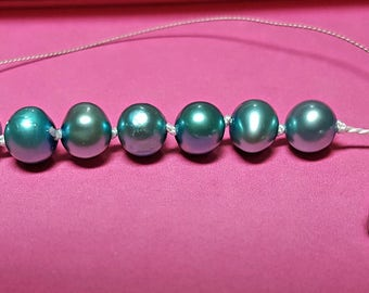 Freshwater Pearl 16 inch Necklace with silverplate floral clasp