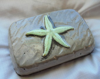 Starfish Stone Doorstop, Door Stopper, GLOW In The Dark, Sculpture, Ocean Decor, Free Shipping