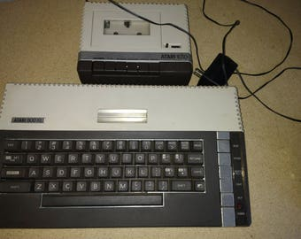 Vintage Atari 800XL and 1010 For Parts Console and Keyboard Vintage Computer Parts