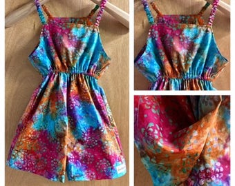 Batik Hippie/Boho Summer Shorts Jumper, girls size 8