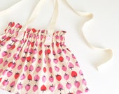 Strawberry Vintage Inspired Ruffle Waist Suspender Skirt, Suspender Shorts, Bloomers, Diaper Cover, Baby & Toddler Skirts