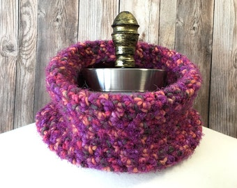 Crochet Cowl, Pink Neck Warmer, Crochet Neckwarmer, Women's Cowl, Circle Scarf, NeckWarmer
