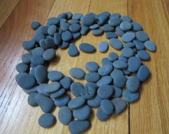 100 Shades of Dark Natural Beach Stones Lake Michigan Stone Craft Supplies