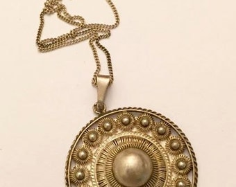 Vintage 835 Silver Pendant with Chain