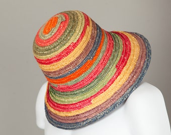 Vintage Colorful Straw Hat