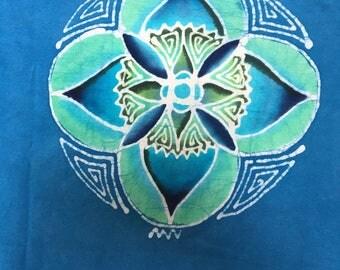 Batik tee XL, double sided
