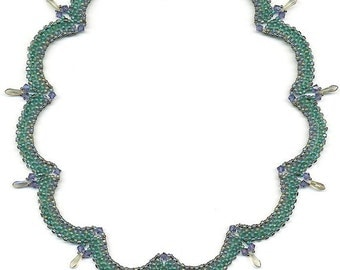 PDF File Tutorial for Scalloped Beadwoven Necklace