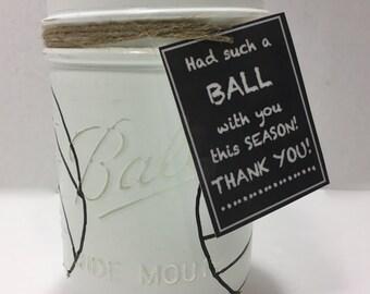 Volleyball Mason Jar, Hand Painted Volleyball Mason Jar, Volleyball Coach gift, Volleyball Birthday gift, Volleyball Team Gift, Gift