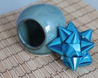 Salt Cellar / Salt Pig / blue