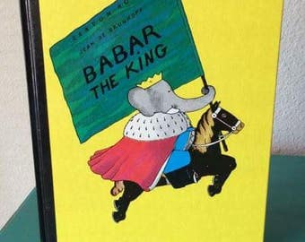 Vintage Children's Book - Babar The King