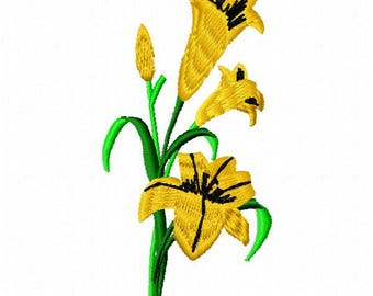 Easter Lily Embroidery Design - Instant Download