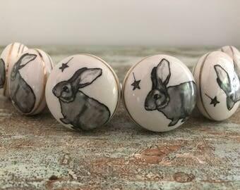Porcelain drawer pull / knobs