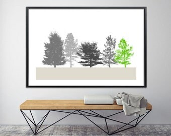 Large TREE wall art, Huge Canvas Print, Giclee Print up to 40X60, huge wall decor, nature prints, minimalist poster, black and white