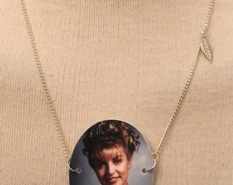 Silver-Plated Handmade Twin Peaks Laura Palmer Prom Necklace