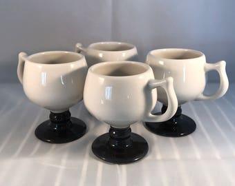 Caribe Puerto Rico restaurant ware black and white coffee mugs