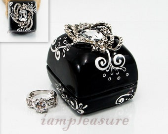 Wedding rings box handmade collections or for propose marriage