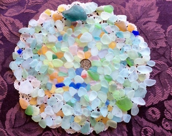 Rough Pastel & UV Beach Sea Glass  RP-J16-B