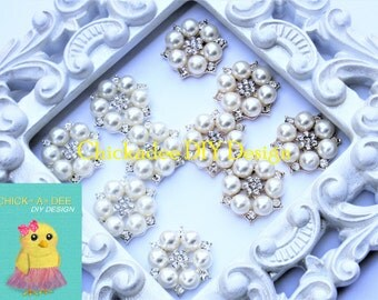 Pearl Flat Back Embellishment, Flower Center Embellishment, Flower Craft, Pearl Embellishment