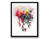 Abstract // Ink Painting// Original Handmade // Signed // wall ready //  wall art // modern art // anniversary present
