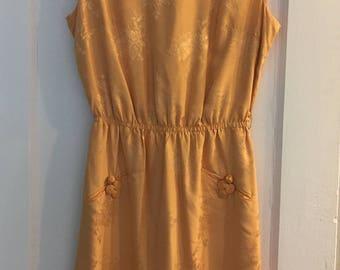 Mandarin Orange Oriental Inspired Dress